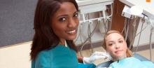 Woman getting a Dental Cleaning