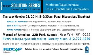 Fedcap Solution Series - Minimum Wage Increase Event