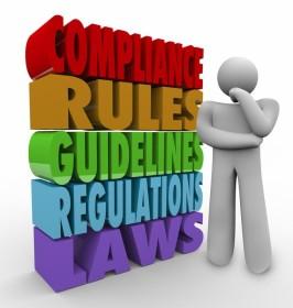 Compliance - colorful cartoon figure