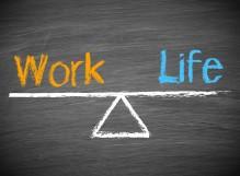 work life balance chalk board