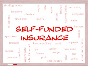 Self-funded insurance terms infographic