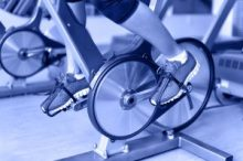 spin bike bicycle exercise foot sneaker gym